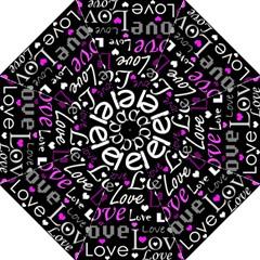 Valentine s day pattern - purple Golf Umbrellas