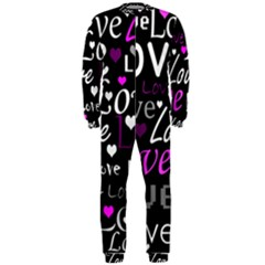 Valentine s day pattern - purple OnePiece Jumpsuit (Men)