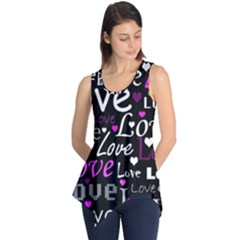 Valentine s day pattern - purple Sleeveless Tunic