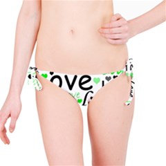 Green  Valentine s day pattern Bikini Bottom