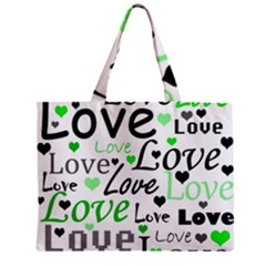 Green  Valentine s day pattern Mini Tote Bag
