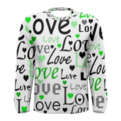 Green  Valentine s day pattern Men s Long Sleeve Tee