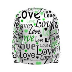 Green  Valentine s day pattern Women s Sweatshirt