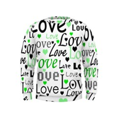 Green  Valentine s day pattern Kids  Sweatshirt