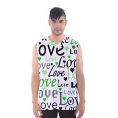 Green  Valentine s day pattern Men s Basketball Tank Top