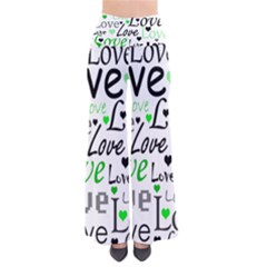 Green  Valentine s day pattern Pants