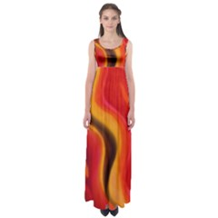ETERNAL FLAME by WBK:  Empire Waist Maxi Dress