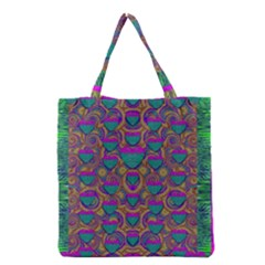 Merry Love In Heart  Time Grocery Tote Bag