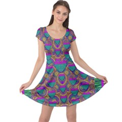Merry Love In Heart  Time Cap Sleeve Dresses