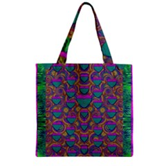Merry Love In Heart  Time Zipper Grocery Tote Bag