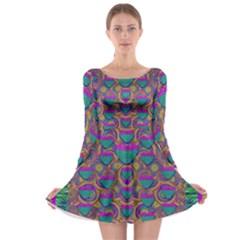 Merry Love In Heart  Time Long Sleeve Skater Dress
