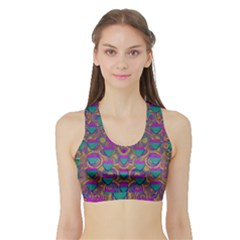 Merry Love In Heart  Time Sports Bra with Border