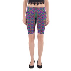 Merry Love In Heart  Time Yoga Cropped Leggings