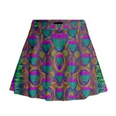 Merry Love In Heart  Time Mini Flare Skirt