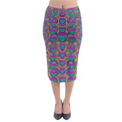Merry Love In Heart  Time Midi Pencil Skirt