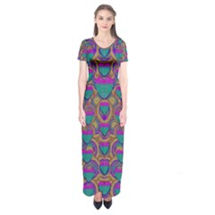 Merry Love In Heart  Time Short Sleeve Maxi Dress