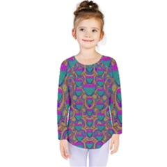Merry Love In Heart  Time Kids  Long Sleeve Tee