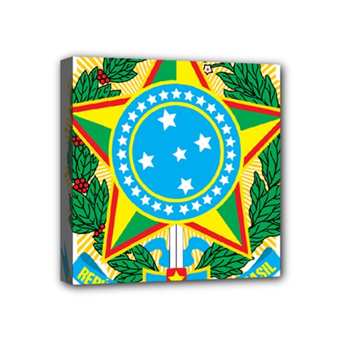 Coat of Arms of Brazil Mini Canvas 4  x 4