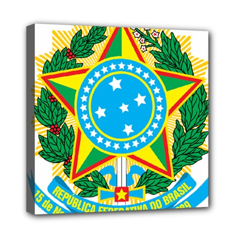 Coat of Arms of Brazil Mini Canvas 8  x 8