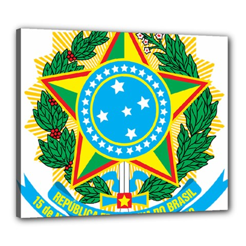 Coat of Arms of Brazil Canvas 24  x 20