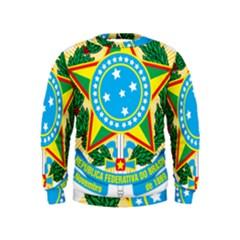 Coat of Arms of Brazil Kids  Sweatshirt