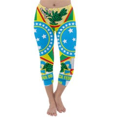 Coat of Arms of Brazil Capri Winter Leggings