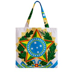 Coat of Arms of Brazil Zipper Grocery Tote Bag