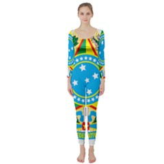 Coat of Arms of Brazil Long Sleeve Catsuit