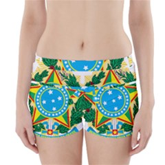 Coat of Arms of Brazil Boyleg Bikini Wrap Bottoms