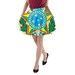 Coat of Arms of Brazil A-Line Pocket Skirt