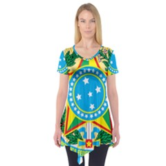 Coat of Arms of Brazil Short Sleeve Tunic