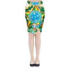 Coat of Arms of Brazil Midi Wrap Pencil Skirt