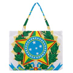Coat of Arms of Brazil Medium Zipper Tote Bag