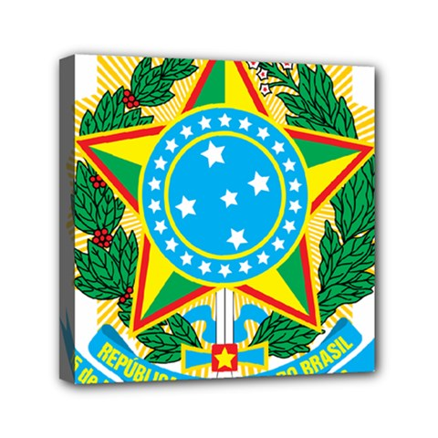 Coat of Arms of Brazil, 1971-1992 Mini Canvas 6  x 6