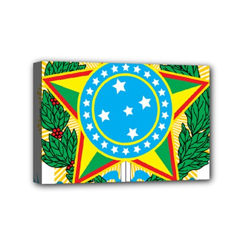 Coat of Arms of Brazil, 1971-1992 Mini Canvas 6  x 4