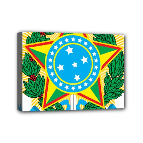Coat of Arms of Brazil, 1971-1992 Mini Canvas 7  x 5