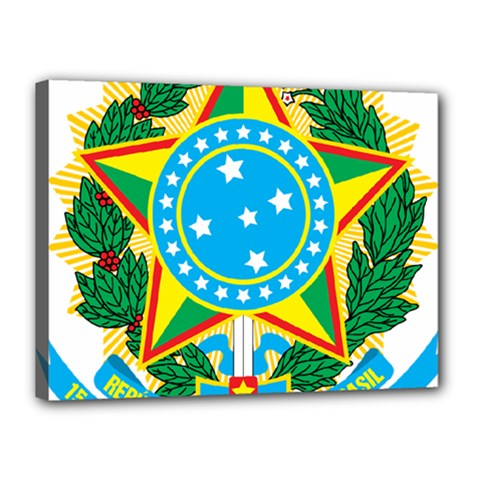 Coat of Arms of Brazil, 1971-1992 Canvas 16  x 12