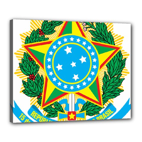 Coat of Arms of Brazil, 1971-1992 Canvas 20  x 16