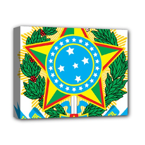 Coat of Arms of Brazil, 1971-1992 Deluxe Canvas 14  x 11