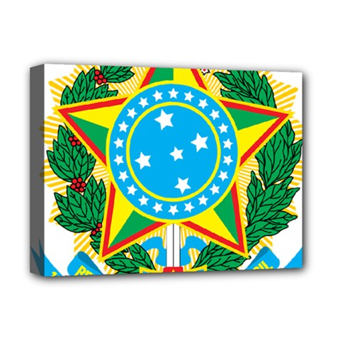 Coat of Arms of Brazil, 1971-1992 Deluxe Canvas 16  x 12