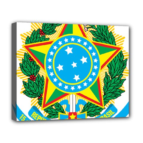 Coat of Arms of Brazil, 1971-1992 Deluxe Canvas 20  x 16