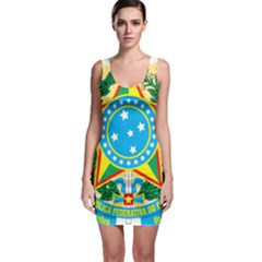 Coat of Arms of Brazil, 1971-1992 Sleeveless Bodycon Dress