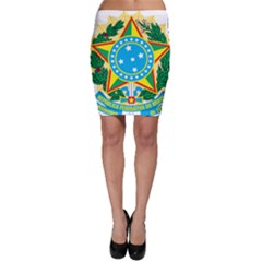 Coat of Arms of Brazil, 1971-1992 Bodycon Skirt