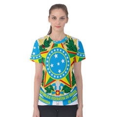 Coat of Arms of Brazil, 1971-1992 Women s Cotton Tee