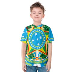 Coat of Arms of Brazil, 1971-1992 Kids  Cotton Tee