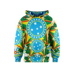 Coat of Arms of Brazil, 1971-1992 Kids  Pullover Hoodie