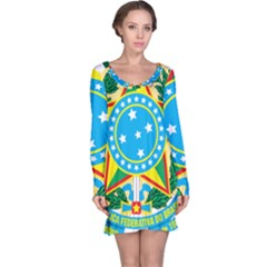 Coat of Arms of Brazil, 1971-1992 Long Sleeve Nightdress