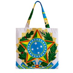 Coat of Arms of Brazil, 1971-1992 Zipper Grocery Tote Bag