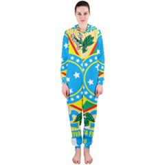 Coat of Arms of Brazil, 1971-1992 Hooded Jumpsuit (Ladies)