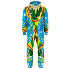 Coat of Arms of Brazil, 1971-1992 Hooded Jumpsuit (Men)
